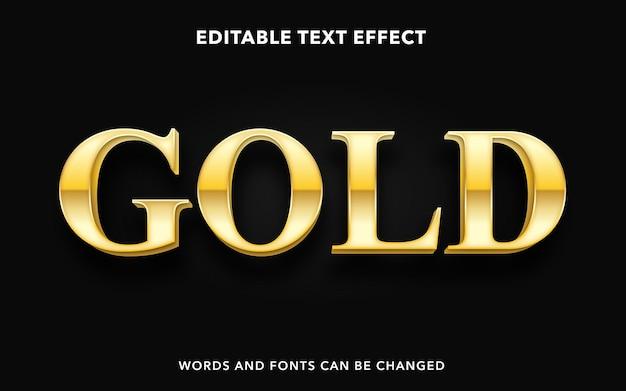 Bearbeitbarer texteffekt für premium gold Premium Vektoren