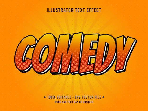 Bearbeitbarer texteffekt im comedy-pop-art-stil Premium Vektoren