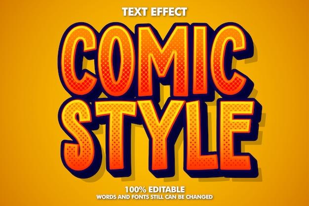 Bearbeitbarer texteffekt im comic-stil Kostenlosen Vektoren