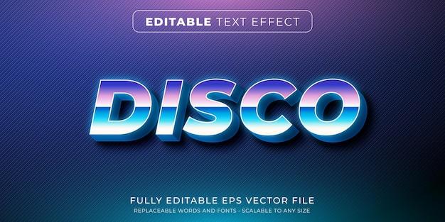 Bearbeitbarer texteffekt im disco club retro-stil Premium Vektoren