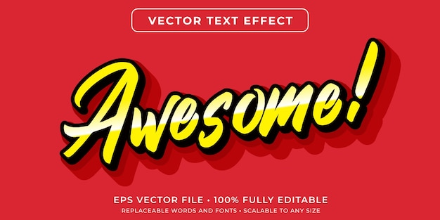 Bearbeitbarer texteffekt im minimalistischen skriptstil Premium Vektoren