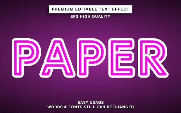 Bearbeitbarer texteffekt im papierstil Premium Vektoren