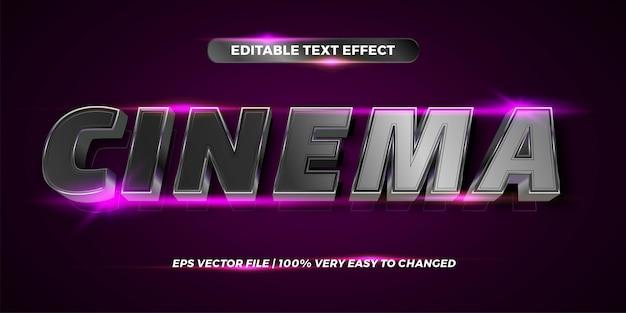 Bearbeitbarer texteffekt - kinotextstil Premium Vektoren