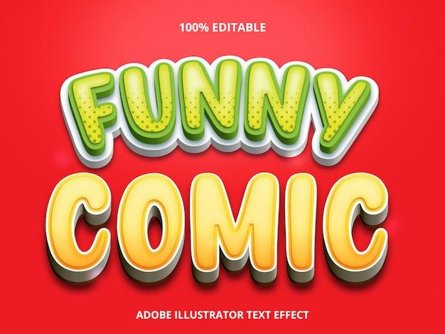Bearbeitbarer texteffekt - lustiger comic-titelstil Premium Vektoren
