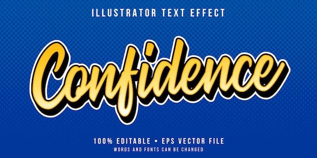Bearbeitbarer texteffekt - minimaler kalligraphischer stil Premium Vektoren