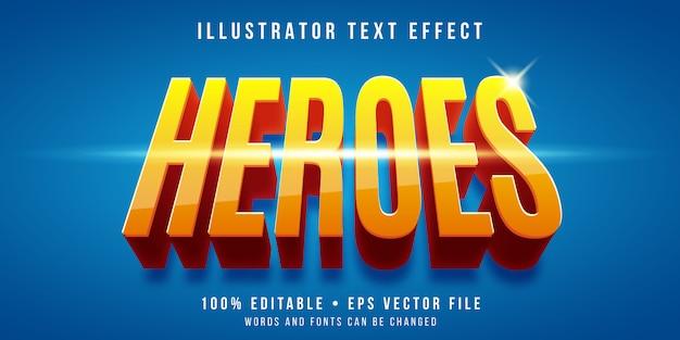 Bearbeitbarer texteffekt - superheldenstil Premium Vektoren