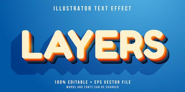 Bearbeitbarer texteffekt - textstil mit ebenen Premium Vektoren