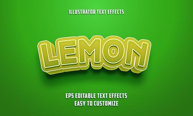 Bearbeitbarer texteffektstil auf grün und zitronenfarbe Premium Vektoren
