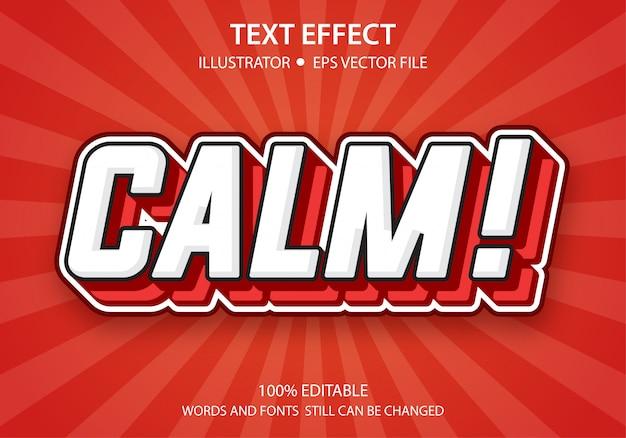 Bearbeitbarer textstil-effekt beruhigen sie sich Premium Vektoren