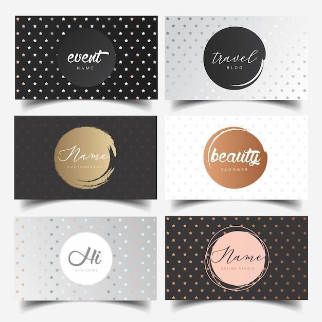 Bearbeitbares feminines logo-design Premium Vektoren