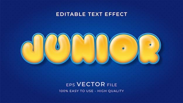 Bearbeitbares texteffektkonzept des ballonkindes Premium Vektoren