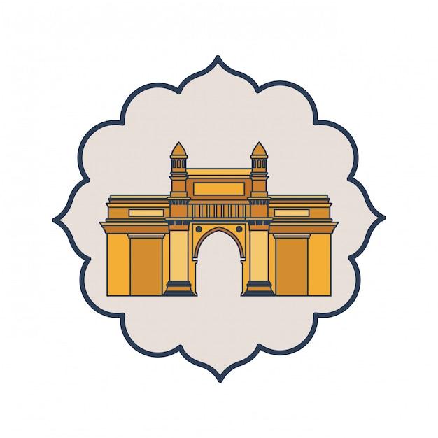 Bearbeitung des zugangs von indien lokalisierte ikone Premium Vektoren