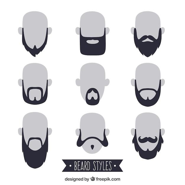 Beardstyle sammlung Kostenlosen Vektoren