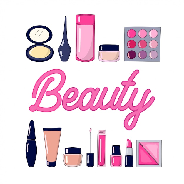 Beauty-ausrüstung Premium Vektoren