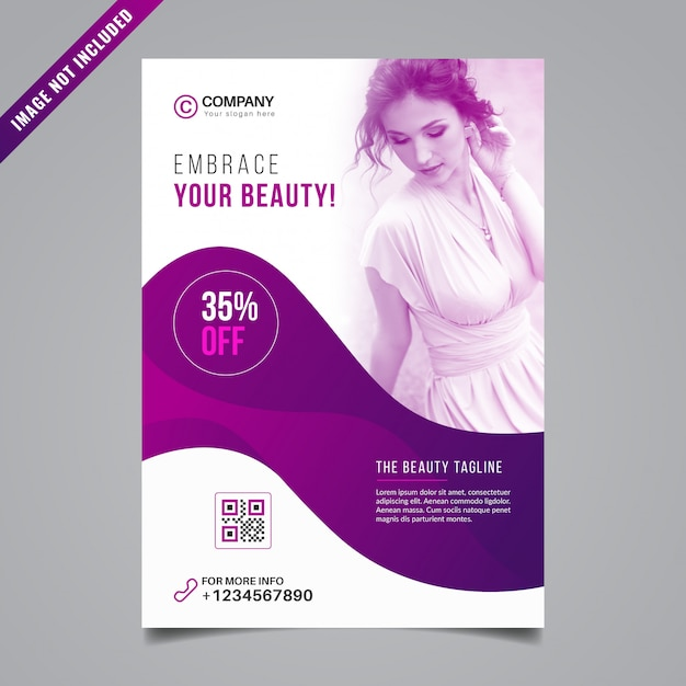 Beauty flyer design Premium Vektoren