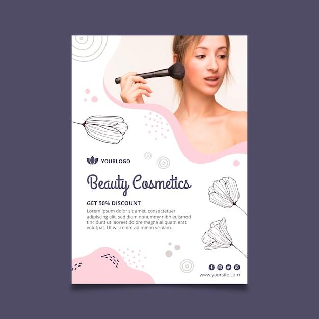 Beauty-gesichtskosmetik flyer vorlage Kostenlosen Vektoren