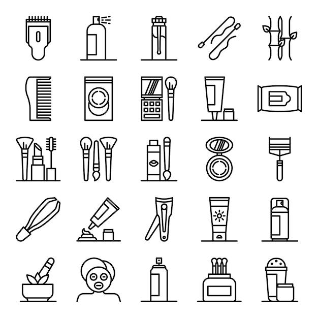 Beauty icons pack Premium Vektoren