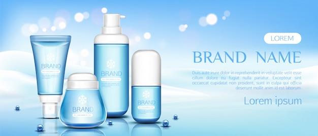 Beauty-kosmetik-flaschen Kostenlosen Vektoren