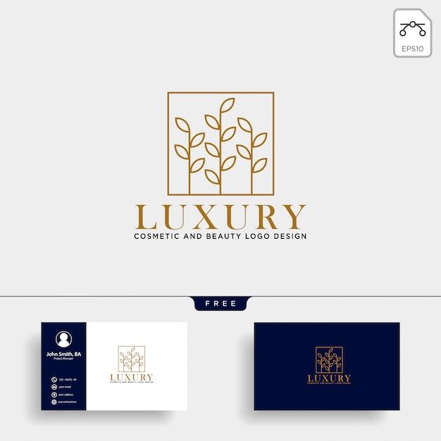 Beauty kosmetik linie logo vektor-symbol Premium Vektoren