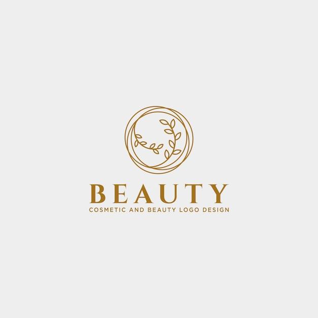 Beauty kosmetische linie kunst logo vorlage Premium Vektoren
