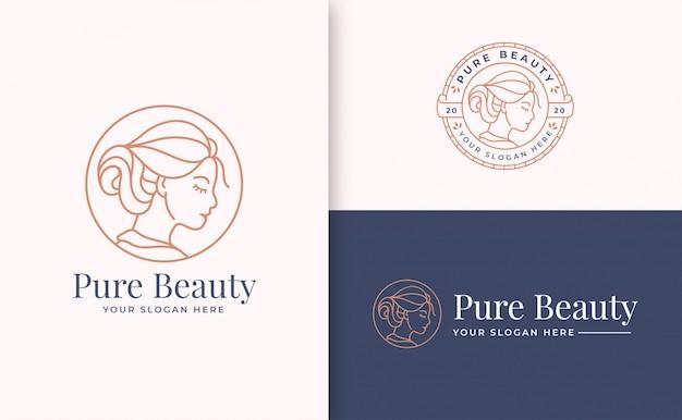 Beauty logo branding-vorlage Premium Vektoren
