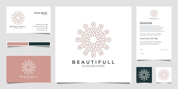 Beauty-logo-design, kann für beauty-salon, spa, yoga und mode verwendet werden Premium Vektoren