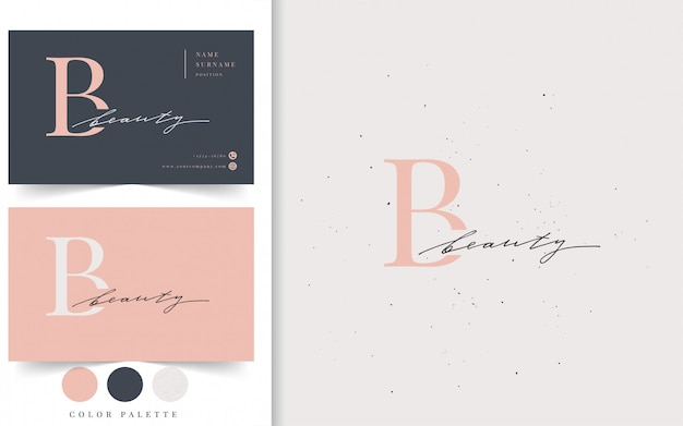 Beauty logo und visitenkarte vorlage. Premium Vektoren