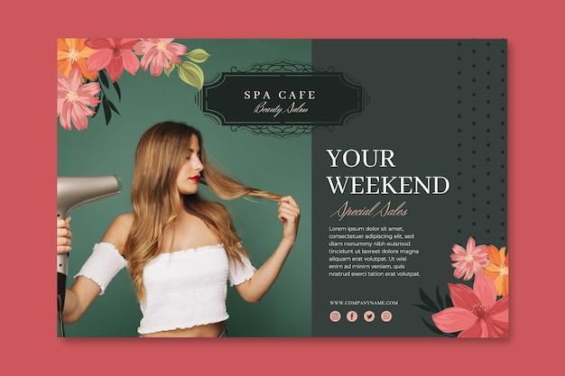Beauty mode salon banner vorlage Kostenlosen Vektoren