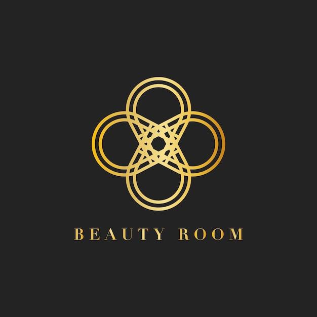 Beauty-room branding logo abbildung Kostenlosen Vektoren