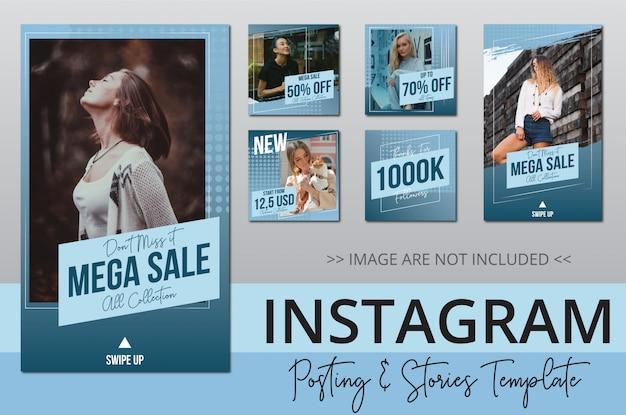 Beauty sale instagram post sammlung Premium Vektoren