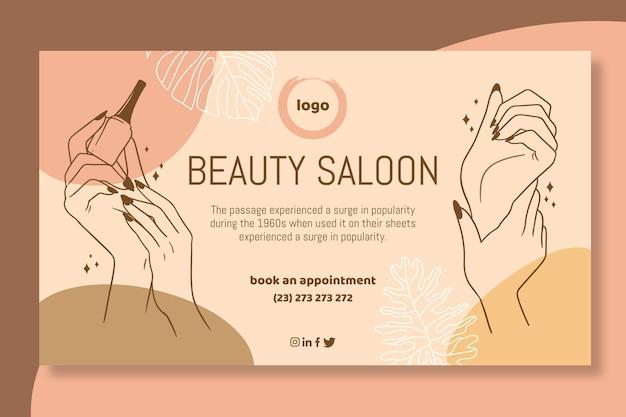 Beauty salon banner vorlage Kostenlosen Vektoren