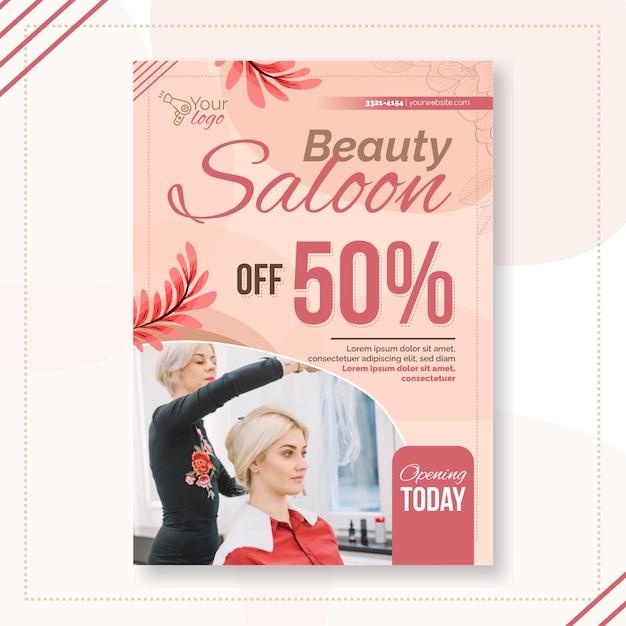Beauty salon flyer vorlage Kostenlosen Vektoren