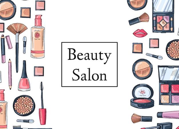 Beauty-salon-karte Premium Vektoren