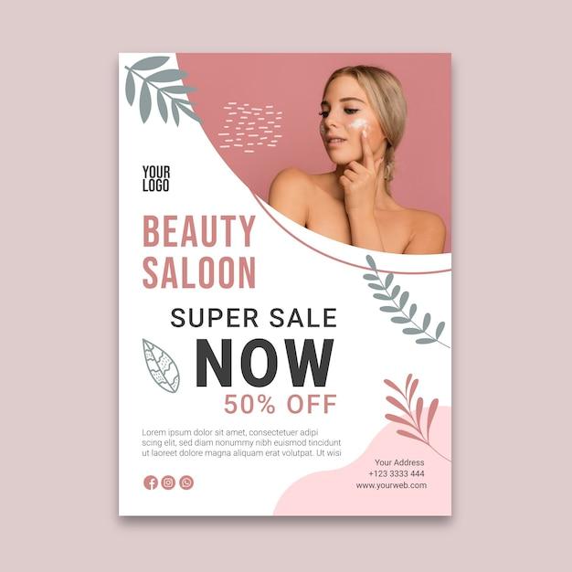 Beauty saloon flyer v Kostenlosen Vektoren