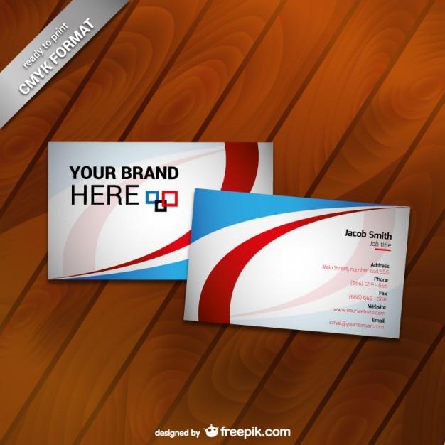 Bedruckbare visitenkarten vorlage Kostenlosen Vektoren