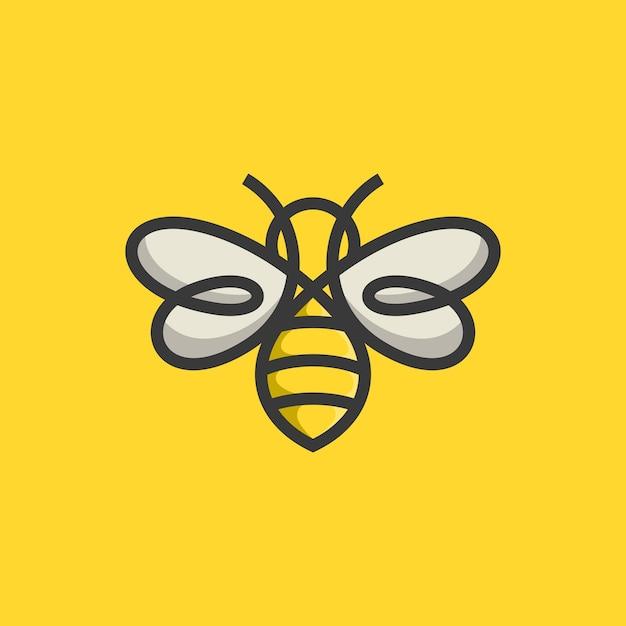 Bee logo design vorlage Premium Vektoren