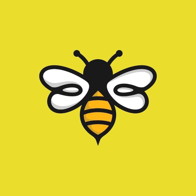 Bee logo vorlage Premium Vektoren