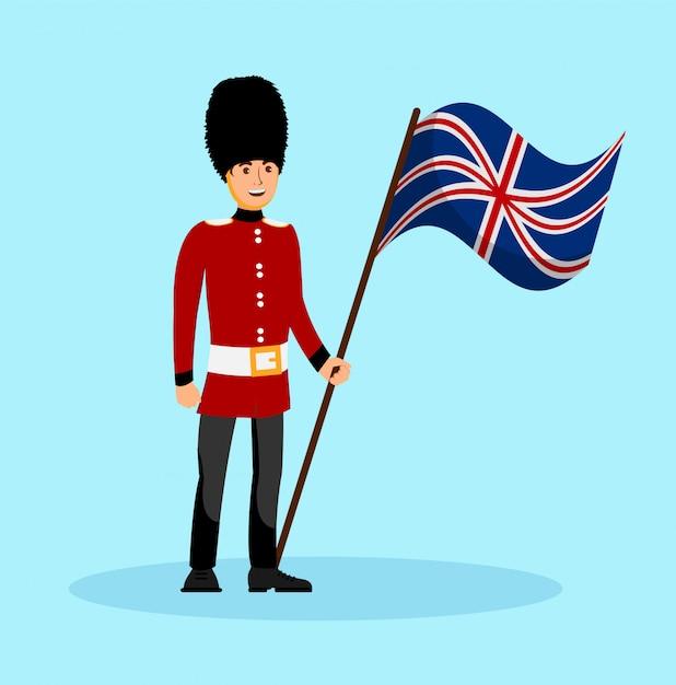 Beefeater, england queen guard vector illustration Premium Vektoren
