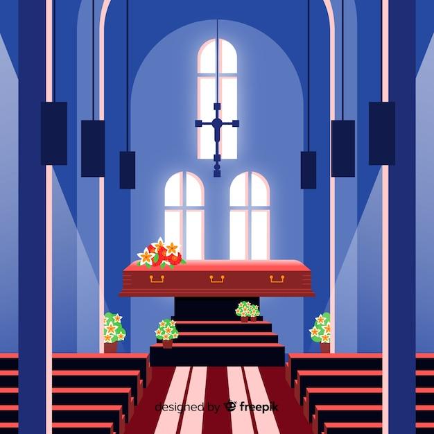 Begräbniszeremonie Kostenlose Vektoren