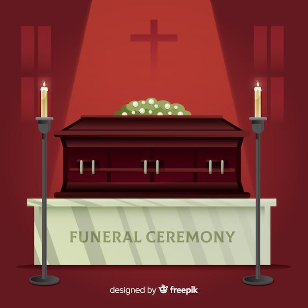 Begräbniszeremonie-hintergrund Kostenlosen Vektoren
