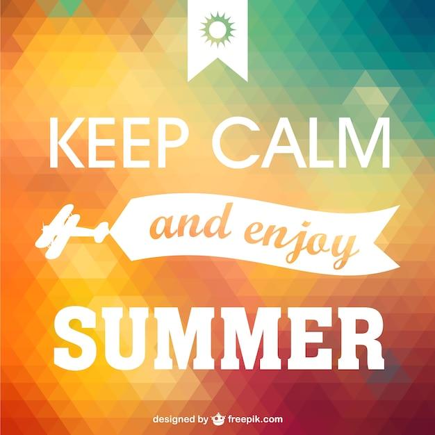 Behalten sie ruhe genießen sommer poster Kostenlosen Vektoren