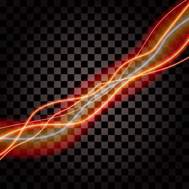 Beleuchtung des elektrischen donnersturmglühen-scheinvektors Premium Vektoren