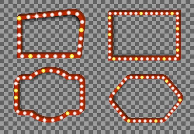 Beleuchtungskarten-hintergrundillustration des kinos realistische Premium Vektoren