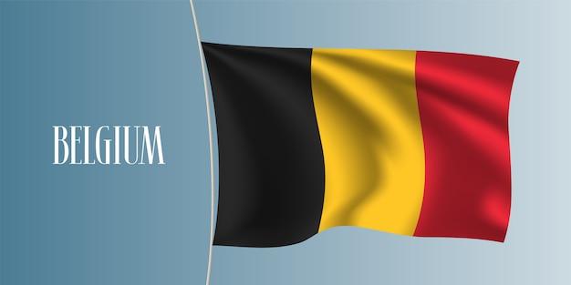Belgien winkende flaggenillustration Premium Vektoren