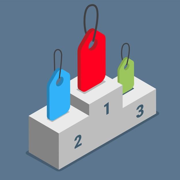 Beliebte tags beschriftet themen themen podest podium konzept. Premium Vektoren