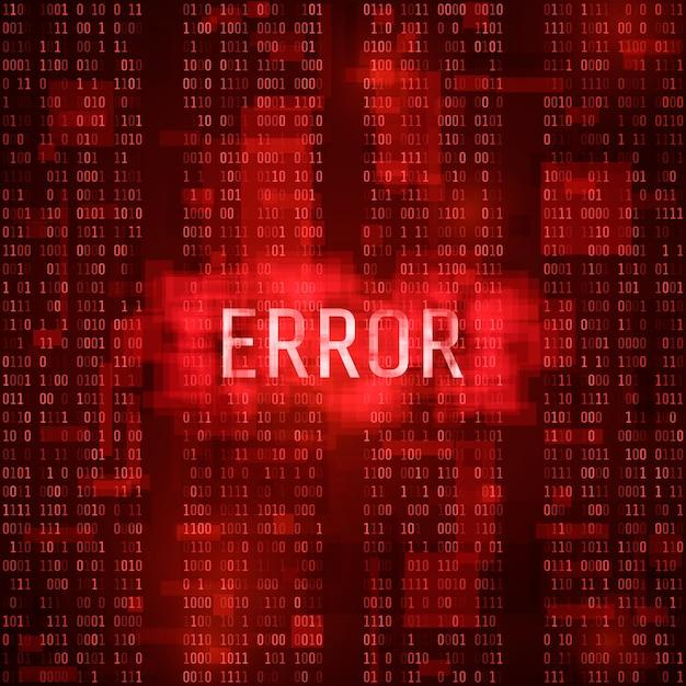 Benachrichtigungskonzept für alarmfehlermassage. fehler digitaler bericht. system-hacking durch hacker Premium Vektoren