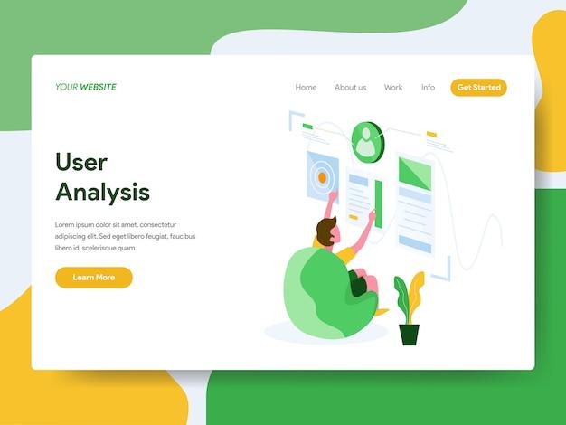 Benutzeranalysefür website-seite Premium Vektoren
