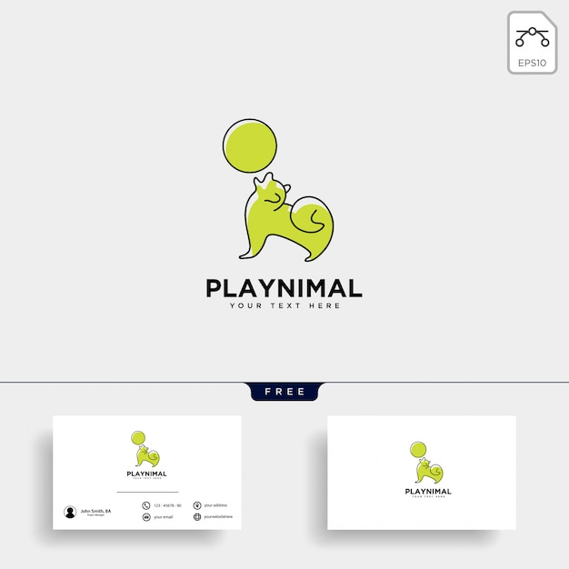 Beratung beratung logo vorlage für heimtiere Premium Vektoren