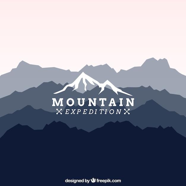 Berg-expedition logo Premium Vektoren