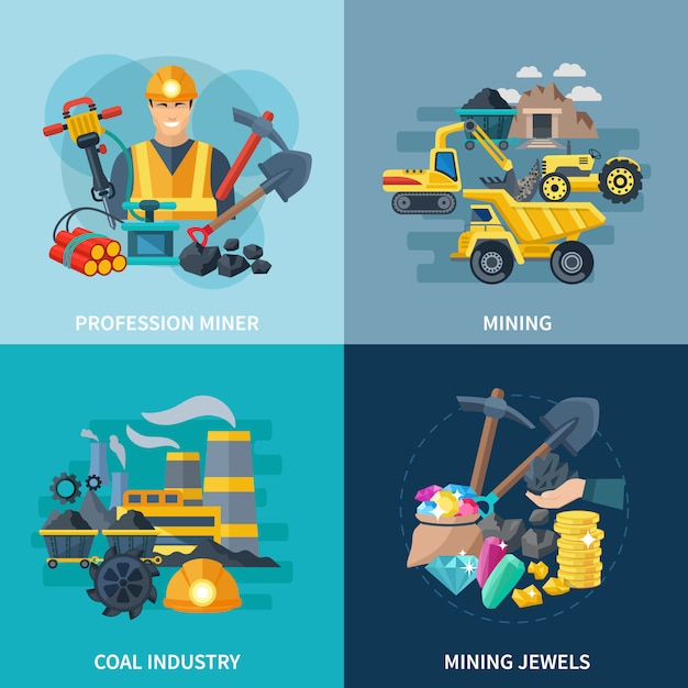 Bergbau Kostenlosen Vektoren